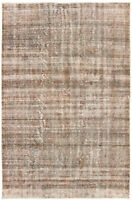 "Hand-knotted Turkish Carpet 5'11"" x 9'0"" Color Transition Traditional Wool Rug"