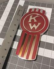 kenworth vintage crooked logo hood emblem