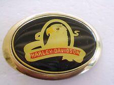 HARLEY DAVIDSON MOTOTCYCLE BELT BUCKLE EAGLE 1983 SOLID BRASS BARON GOLD TONE
