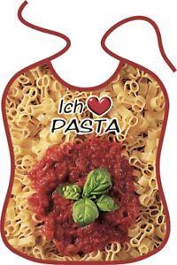 """Großes Lätzchen """"ICH LIEBE PASTA"""" ,Spaghetti,Geschenk,Nudeln,Latz,BG-45056"""