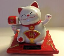 White Beckoning Fortune Happy Cat 3.5