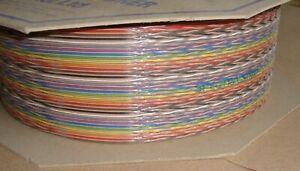100ft REEL, 64 WAY SPECTRA STRIP Twist RIBBON CABLE 132-2802-264 127TNF2807-64