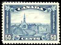 Canada #176 mint VF OG NH 1930 Arch/Leaf Issue 50c Acadian Memorial Church