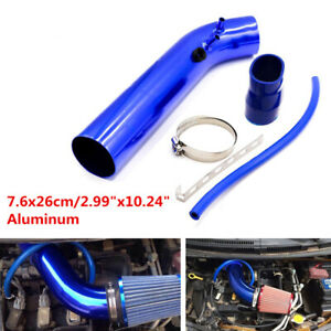 "Universal 3"" 76mm Air Intake Pipe Kit / Racing Car Cold Air Intake Aluminum Tube"