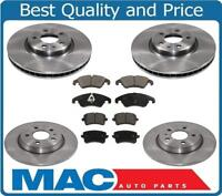 2 FRONTS Black Hart *DRILLED /& SLOTTED* Disc Brake Rotors F1797