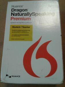 NUANCE Dragon Naturally SPEAKING Premium V13 Student Teacher w Microphone