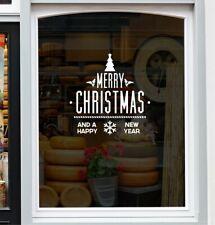Merry Christmas Sticker for Windows Shop Display Home Decor Festive xmas Decal