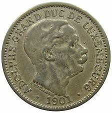 (c68) - Lussemburgo Luxembourg - 10 CENTESIMI 1901-Adolphe-F-VF - km # 25