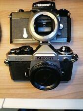 Nikon FE2 & Nikkomat( Japan Nikkormat) FTn, Excellent Pair Fully working &ClA'd
