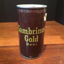 Vintage Pull Tab Gambrinus Gold Beer Can c. 1970s