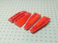 Lego Slope Inverted Curved Wedge 6x2 Double [41764 & 41765] Red x2 Pairs