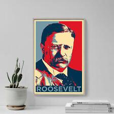 Theodore Roosevelt Art Print 'Hope' - Photo Poster Gift - USA President Teddy