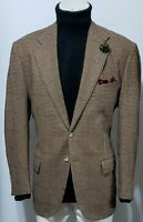 Polo Ralph Lauren made in Italy Tweed houndstooth Wool Cashmere Sport Coat 44 R