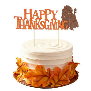 Happy Thanksgiving turkey cake card insert topper decoration party decoratioWP2
