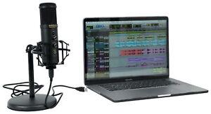 Rockville Solo-Cast Pro 24 bit 192Khz USB Computer Microphone PC Zoom Mic+Stand