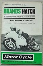 BRANDS HATCH 3 Jun 1963 INTERNATIONAL MOTOR CYCLE RACES Official Programme