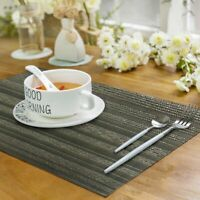 Placemats Set of 8 Heat-Resistant PVC Table Mats Woven Washable Texture Non Slip