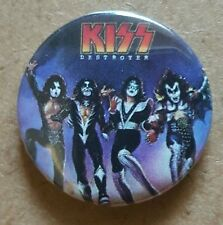 Kiss Destroyer   Back Badge Gene Simmons Paul Stanley