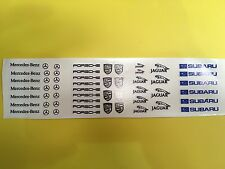 Scalextric /Slotcar Pre-Cut Decal Set A111 F1, Rally 1/32 scale stickers