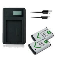 2X Battery & USB Charger NP-BX1 for Sony CyberShot DSC-RX100M5 DSC-HX350