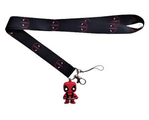 Deadpool Lanyard Stainless Steel Key Ring Handmade Cell Phone Lanyard