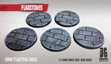 Flagstones - 5 x 40mm resin scenic bases