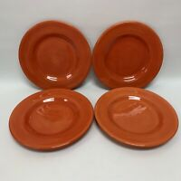Tabletops Gallery Corsica Dinner Plates Clementine Orange Hand Painted Lot of 4