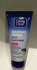 Clean and Clear Blackhead Clearing 2 IN 1 WASH & MASK, 150ml  EBAYS CHEAPEST