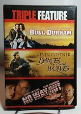 Kevin Costner-Triple Feature(DVD)Bull Durham/Dances With Wolves/No Way Out-F S&H