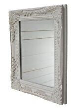 Spiegel Wandspiegel weiß antik Patina Holz Barock Landhaus Badspiegel Rahmen