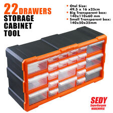 New 22 Drawers Storage Cabinet Tool Box Chest Case Plastic Organiser Toolbox Bin