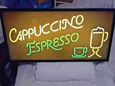 ELECTRIC CAPPUCCINO EXPRESSO LIGHT UP SIGN