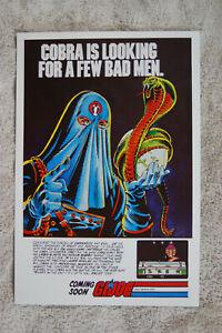 GI Joe Video Game promotional poster #1  80s