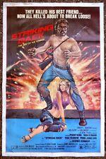 ORIGINAL STRIKING BACK ONE SHEET MOVIE POSTER 1981 P KING DON STROUD TISA FARROW