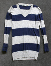 COUNTRY ROAD Blue & Grey Stripe Jumper - Size XS 8