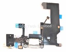 For iPhone 5 White Charging Port - Replacement Charger Flex Cable USB Dock Mic