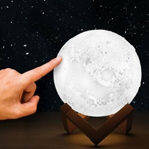 Colour Changing Moonbeam 3D Moon Mood Light Table Space Lamp Bedroom Lighting