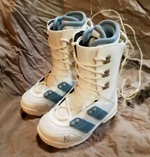 K2 Mink womens White/Blue size 5 Snowboard boots *New* $180 now $59!