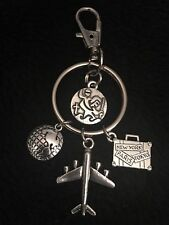 Saint Christopher Travel Charm Keyring Gift Keychain Protect Us Hostess Be Safe