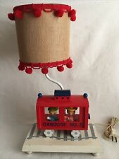 Vintage Childrens Lamp Caboose No 7 With Shade 3-way Light