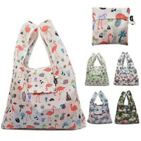 11 Styles Reusable Portable Flamingo Flower Tote PouchFoldable Shopping Bags