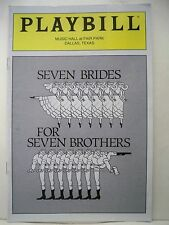 SEVEN BRIDES FOR SEVEN BROTHERS Playbill VICTORIA MALLORY / STEPHEN LEHEW 1994