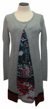 Save the Queen Gray Knit Knee Length Print Deer Casual Dress Size L Retail ~$795