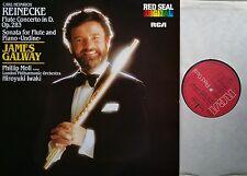 REINECKE  Concerto & Sonata Flute Piano Galway Moll Iwaki LP RCA RL 14034  NM/M