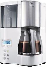 MELITTA Optima Timer Kaffeemaschine 8 Tassen Kaffeeautomat 850W. Weiss-Edelstahl