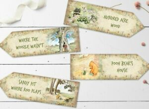 4 Winnie the Pooh Party Decoration Arrows Birthday Christening Baby Shower Party