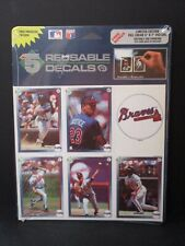MLB 1992 Atlanta Braves 5 Reusable Decals High Five Justice Glavine New in Pack
