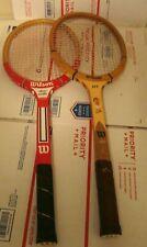 Wilson Jet Tony Trabert and Wilson  Stan Smith vintage wood racquets