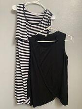 Nursing Breastfeeding Shirt and Dress - Black White Stripes (XL)