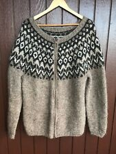 Icelandic hand knit,Cardigan,Lopapeysa, New , fit well size L, Nordic sweater